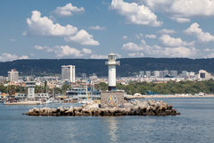 Leuchtturm in Varna, Bulgarien Lizenzfreie Stockfotografie
