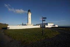 Leuchtturm am Verrührung von Galloway lizenzfreies stockfoto