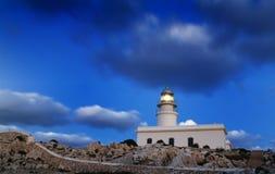 Leuchtturm von Cap de Caballeria, Menorca. Lizenzfreie Stockfotos