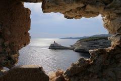 Leuchtturm von La Madonetta, Bonifacio, Korsika lizenzfreie stockfotos
