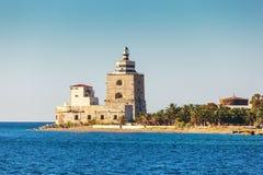 Leuchtturm von Messina Lizenzfreie Stockbilder