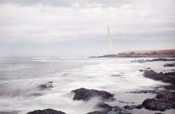 Leuchtturm von Punta-Hidalgo in Teneriffa-Insel Stockfoto