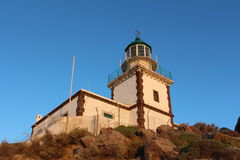 Leuchtturm von Santorini Stockbilder