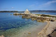 Leuchtturm von St. Theodore bei Argostoli, Kefalonia Stockfotos