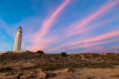 Leuchtturm von Trafalgar, Cadiz Stockbild