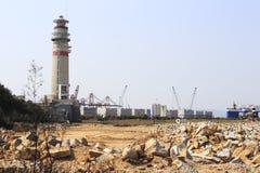 Leuchtturm von zhangzhou Hafen lizenzfreie stockfotos