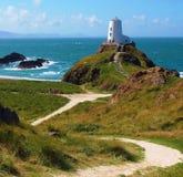 Leuchtturm in Wales lizenzfreies stockfoto