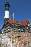 Leuchtturm-Wand lizenzfreies stockfoto