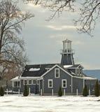 Leuchtturm-wie das Aufbauen im Winter Lizenzfreies Stockfoto