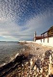 Leuchtturm in Zadar, Kroatien lizenzfreie stockbilder