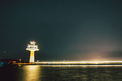 Leuchtturmchinese und -beleuchtung Lizenzfreies Stockfoto