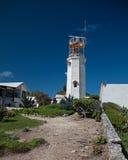 LeuchtturmFernsehturm auf der kleinen mexikanischen Insel von Isla Mujeres (Insel der Frauen) Stockbilder
