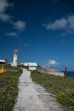 LeuchtturmFernsehturm auf der kleinen mexikanischen Insel von Isla Mujeres (Insel der Frauen) Lizenzfreies Stockbild