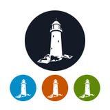 Leuchtturmikone, Vektorillustration Lizenzfreie Stockbilder