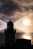 Leuchtturmlichtstrahl Lizenzfreies Stockfoto