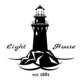 Leuchtturmlogo lizenzfreie abbildung
