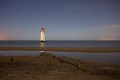 Leuchtturmreflexion Stockfotografie