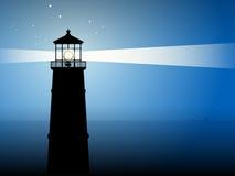 Leuchtturmschattenbild lizenzfreie abbildung
