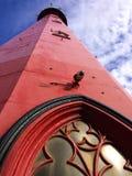 Leuchtturmstrand Scheveningen lizenzfreie stockfotografie