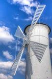 Leuchtturmwindmühle Stockfotos