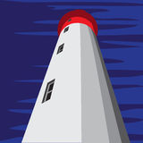 Leuchtturmzeichnung stock abbildung