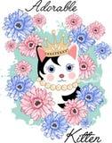 Leuk aanbiddelijk katje Royalty-vrije Stock Afbeeldingen
