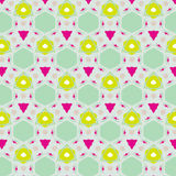 Leuk abstract neon vrouwelijk patroon voor textiel Stock Afbeelding