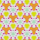 Leuk abstract neon vrouwelijk patroon voor textiel Royalty-vrije Stock Foto