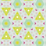 Leuk abstract neon vrouwelijk patroon voor textiel Stock Afbeeldingen