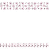 Leuk achtergrondgrenskader met bloemen en bladeren stock illustratie