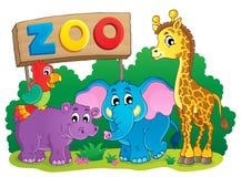 Leuk Afrikaans beeld 6 van het dierenthema Stock Fotografie