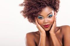 Leuk Afrikaans meisje Stock Foto's