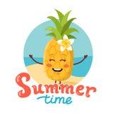Leuk ananaskarakter Stock Foto's