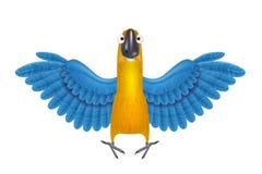 Leuk ara of papegaaibeeldverhaal Stock Afbeeldingen