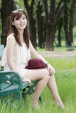 Leuk Aziatisch meisjesportret Stock Foto