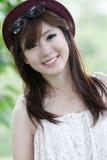 Leuk Aziatisch meisjesportret Stock Foto's