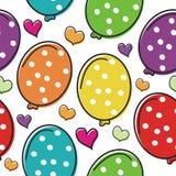 Leuk ballonbeeldverhaal met ontwerp van het liefde het Naadloze patroon Stock Foto's