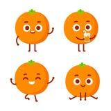 Leuk beeldverhaal oranje karakter Vector Illustratie