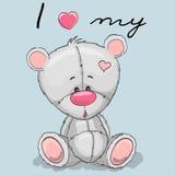 Leuk Beeldverhaal Teddy vector illustratie