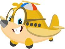 Leuk beeldverhaalvliegtuig Stock Afbeelding