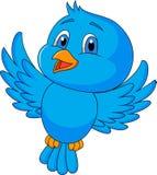 Leuk blauw vogelbeeldverhaal vector illustratie