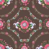 Leuk bloemen naadloos patroon Stock Fotografie
