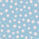 Leuk bloemen naadloos patroon Chaotically geplaatste enige abstracte bloemen en punten Royalty-vrije Stock Afbeelding