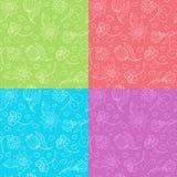 Leuk bloemenpatroon royalty-vrije illustratie