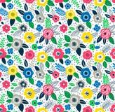 Leuk bloemenpatroon Royalty-vrije Stock Foto