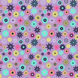 Leuk Bloemenpatroon in de kleine bloem Ditsydruk Naadloze textuur Elegant malplaatje voor manierdrukken Druk met Royalty-vrije Stock Foto's