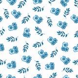 Leuk Bloemenpatroon in de kleine bloem Naadloze handwatercolo royalty-vrije illustratie