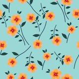 Leuk Bloemenpatroon in de kleine bloem Naadloze vector gele achtergrond stock afbeelding