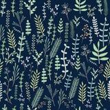 Leuk Bloemenpatroon in de kleine bloem Naadloze vector witte achtergrond royalty-vrije stock foto