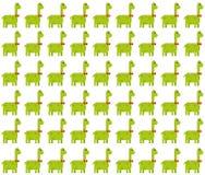 Leuk brontosaurus naadloos patroon op witte achtergrond stock illustratie